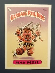 Mad Mike 33a UK Garbage Pail Kids Series 1(1985)Topps~NMT/MINT~Pack Fresh