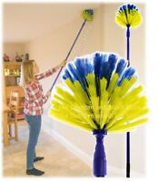 Extendable Cobweb Brush Domed Head Cob Web Feather Duster Long Telescopic Handle