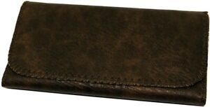 PLAIN TOTAL ALL BROWN Tobacco Cigarette Smoking Paper Pouch Case Bag Holder