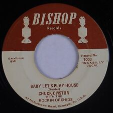 CHUCK OWSTON: Baby Let's Play House / Be-bop-a-lula 45 Rockabilly BISHOP Hear