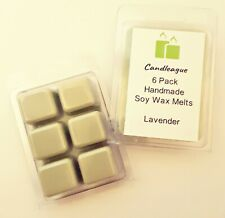 NEW HANDMADE (3) 6 PACKS GREEN COLORED LAVENDER WAX MELTS
