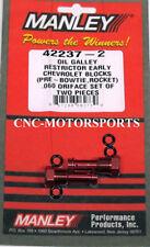 42237-2 Manley Oil Restrictor Kit Aluminum Hex Head Chevy