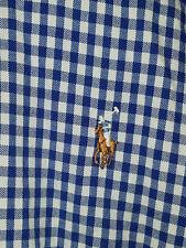 Polo Ralph Lauren Mens S/S Oxford Shirt XLT XL TALL Blue White Gingham