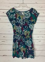 Maeve Anthropologie Women's XS Extra Small Teal Cute Pockets Summer Fall Dress