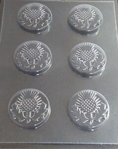 WEDDING SCOTTISH THISTLE MOULD FOR CHOCOLATE SOAP 6 ON 1 IDEAL FOR FAVOURS GIFTS