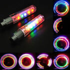 2 PCS 5 LED Flash Light Bicycle Motorcycle Car Bike Tyre Tire Wheel Valve Lamp
