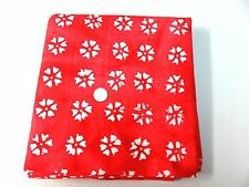 """Batik Fabric for Crafts Quilting-44"""" Red & White -BTY"""