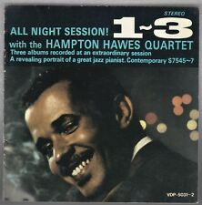HAMPTON HAWES QUARTET ALL NIGHT SESSION 1-3 - JIM HALL JAPAN VDP 5031~2 2 CD SET