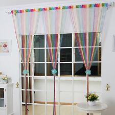 200x100cm Door/Window/Room String Divider Curtain Strip Tassels Multicolor CY