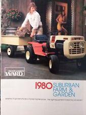 Montgomery Ward 1980 Suburban Lawn Farm Mini-Catalog Color Garden Tractor Gilson