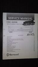 Sherwood cdc-5030r service manual original repair book stereo cd player