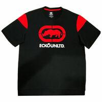 NWT ECKO UNLTD. LOGO AUTHENTIC MEN'S BLACK RED CREW NECK SHORT SLEEVE T-SHIRT