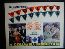 1929 COLLEGE COQUETTE - RARE PRE-CODE TITLE LOBBY CARD - ROMANCE - COLUMBIA