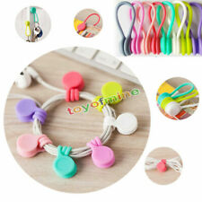 9pcs Magnetic Headphone Earphone Cord Winder Wrap Organizer Cable Ties Holder