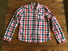 Used Lady Shirt ABERCROMBIE & FITCH Camisa Mujer - Size L Cuadros rojos y azules
