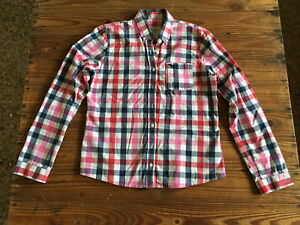 Used Lady Shirt Abercrombie & Fitch Shirt Woman - Size L Checks Red And Blue