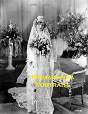 """DOLORES COSTELLO 8X10 Lab Photo 1927 """"A MILLION BID"""" ELEGANT LACE BRIDE PORTRAIT"""