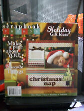 SCRAPBOOK TRENDS DECEMBER 2007 MAGAZINE SCRAPBOOKING LAYOUTS CHRISTMAS ALBUMS +