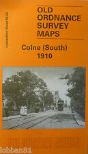Old Ordnance Survey Map Colne South near Burnley  Lancs 1910 S 56.04 New Map
