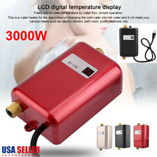 3000W 110V Mini Instant Electric Tankless Hot Water Heater Shower Kitchen Bath