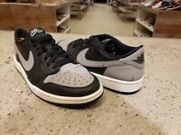 Jordan 1 retro low black grey (2015) shadow sz 10  705329-003