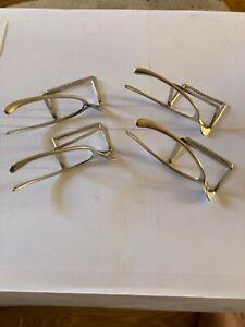 Set of Four Silver Wishbone Menu Holders - Birmingham 1906