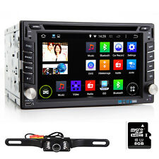 Double 2DIN Car Stereo Radio DVD Player Bluetooth GPS Navigation with Map+Camera