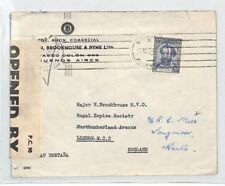 BS38 1941 Argentina Buenos Aires Opened By Examiner Cover PTS