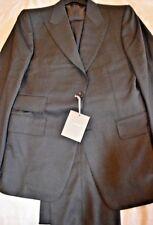 $6k NWT TOM FORD 40 eu50 R Charcoal Gray Birdseye Fit A Peak lapel WOOL suit