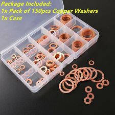 150x15Size Assorted Solid Copper Crush Washers Seal Flat Ring For Fuel&Hydraulic