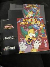 Krusty's fun house nes with manual As Is
