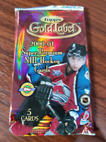 2000-01 topps gold label NHL hockey 5 card pack VERY RARE! See checklist inside