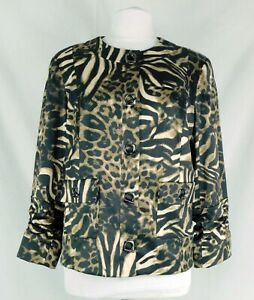 Peck & Peck Size 14 Dressy Animal Print Jacket Beautiful Stylish Cute!