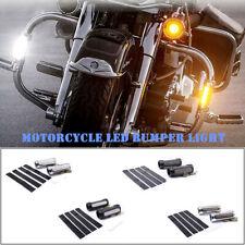2PCS 12V 12W Motorcycle Guard Bar Turn Signal Light Tube Clip Light DRL LED Lamp