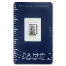 1 gram Palladium Bar - PAMP Suisse (In Assay) - SKU #96239