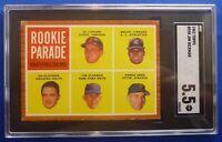 ROOKIE PARADE Outfielders Jim Hickman Jimenez+ 1962 Topps #598 SGC Grade:5.5 ex-