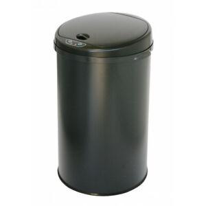 iTouchless 8 Gallon Deodorizer Round Sensor Trash Can, Matte Finish Black