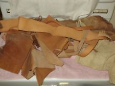 6 lbs. Vtg Leather Craft Tooling Cowhide & Suede Scraps & Pieces - C