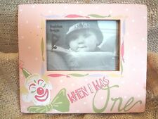 "Danielson Designs Distressed Wood Photo Frame ~ ""When I Was One"" ~ New"