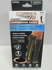 Copper Fit Copper Infused  Compression Socks  UNISEX SIZE SM/MED BRAND NEW