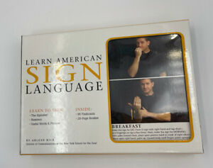 Learn American Sign Language by Arlene Rice 87 Flashcards - FREE SHIPPING