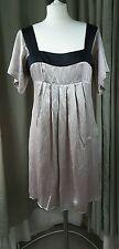 Ted Baker Empire Line Silk Dress - Size 3 UK12 EU40 EXCELLENT CONDITION