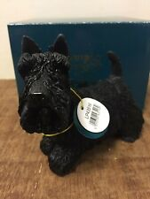 Scottish Terrier Dog Ornament by Leonardo Black Scottie Dog Figure Statue