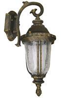 Outdoor Light Fixture Gold Black Wall Sconce Downward Lantern Cast Aluminum