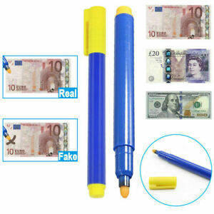 Counterfeit Check Money Tester Detector Pen Cash Fake Dollar Bill Currency Notes