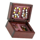 12th Dollhouse Miniature Wooden Vintage Jewelry Box Bedroom Dressing Table