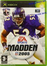 MADDEN NFL 2005 jeu de sport football américain pr console XBOX Microsoft testé
