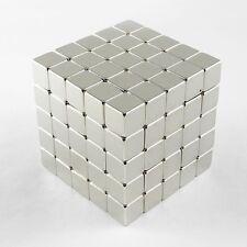 "125pcs 3/8"" x 3/8"" x 3/8"" Cube 10x10x10mm Neodymium Magnets Rare Earth N35 Neo"
