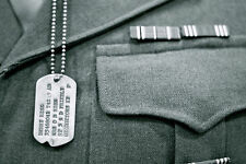 WWII Style Military notched dog tags / Personalized / NEW