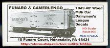 Funaro F&C 1049  DAIRYMEN'S LEAGUE MILK 40' Reefer Car 1920-40 Old Time Wood Kit